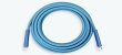 Blue non-mark rubber wire braided wash down hose assembly deisgned for high pressure water