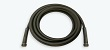 Black rubber wire braided wash down hose assembly deisgned for high pressure water
