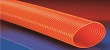 High visibility Orange, smooth bore, heavy duty, abrasion resistant clear polyurethane flexible ducting hose