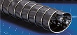 Lightweight flexible PVC ducting hose with clamp profile, electrically conductive for dust, gases and chemicals