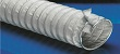 Medium weight flexible insulating high temperature ducting hose with clamp profile designed for aggressive gas extraction