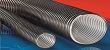 A clear smooth bore, abrasion resistant polyurethane flexible ducting hose for street cleaning vehicles and lawnmowers