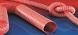 Red Silicone Unlined Ducting Hose SIL1