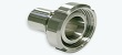 Hygienic Stainless Steel Female DIN Coupling with Hose Tail