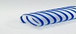 Clear Lightweight Polyurethane 0.4mm Flexible Ducting Hose � Blue Helix